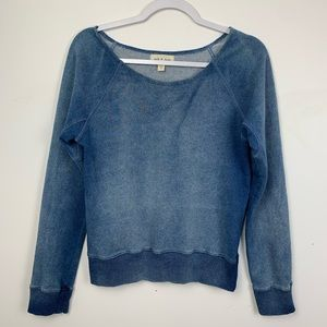 Anthropologie cloth & stone acid washed pullover